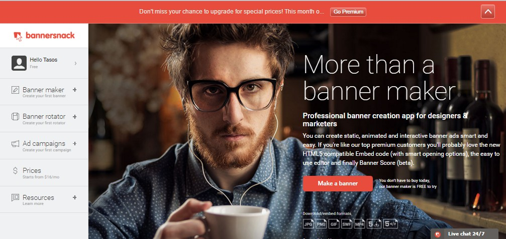 Bannersnack is a Professional and Reliable Website Banner Maker
