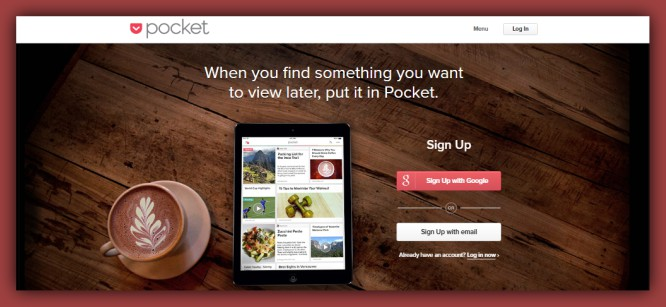 Save for later with the Free GetPocket App that Works on Any device