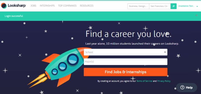 LookSharp is an Entry Level Jobs Search Engine Helping Students w/ Free Material