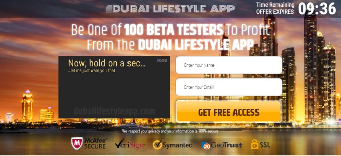 Dubai Lifestyle App – The Land of Billionaires and Filthy Binary Scams…Watch Out