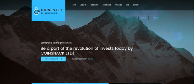 CoinSnack LTD – Not Exactly an Investing Revolution, Just Fancy Daily ROIs