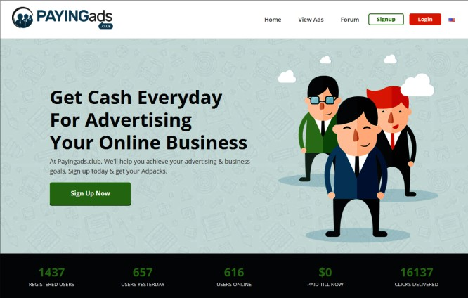 PayingAds.Club – Not A Club for Wealthy Entrepreneurs
