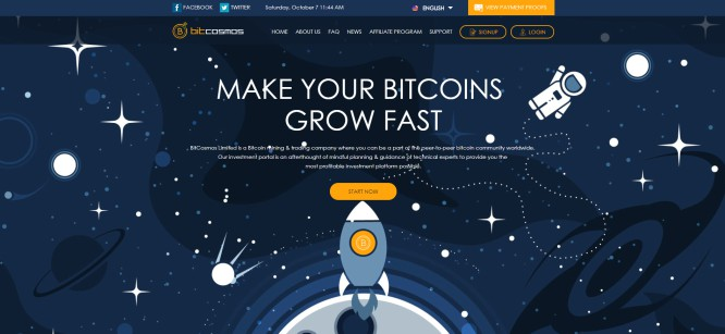 BitCosmos.biz – Make Your Bitcoins Vanish to the Thin Air