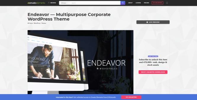 envato elements wordpress themes