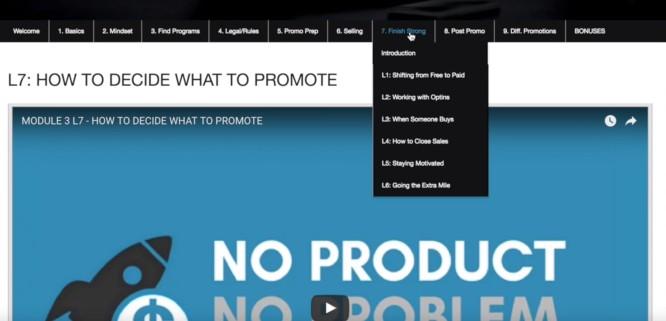 no product no problem course-modules