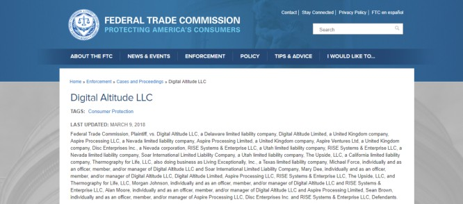 Digital Altitude ShutDown by FTC – Halting Business Coaching Scheme