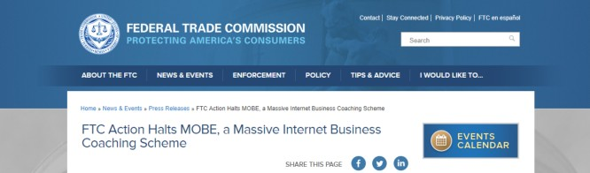 MOBE ShutDown by FTC – A Massive Internet Business Coaching Scheme