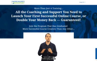 Course Builder's Laboratory – Pure Quality, Over the Top Coaching & Support