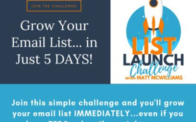Email On Steroids – Matt McWilliams – List Launch Challenge Review