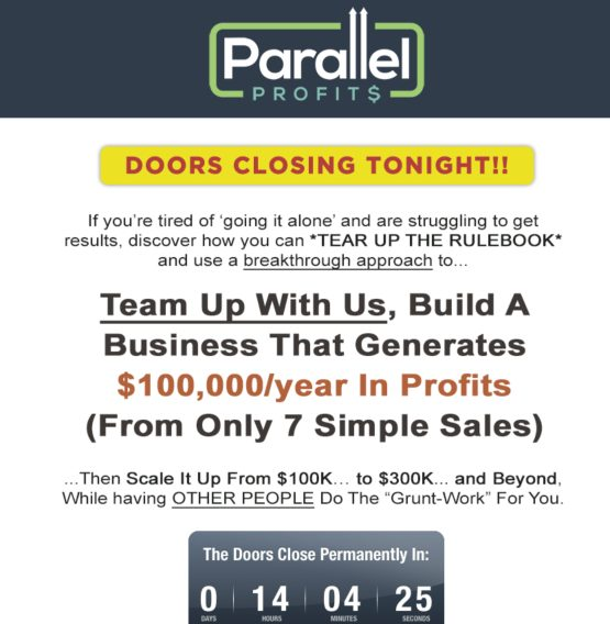 parallel profits final webinars