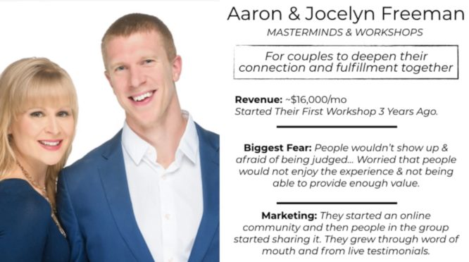 knowledge business blueprint testimonials - aaron and jocelyn freeman