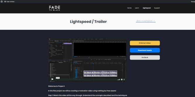 fade to black joey xoto lightspeed trailer