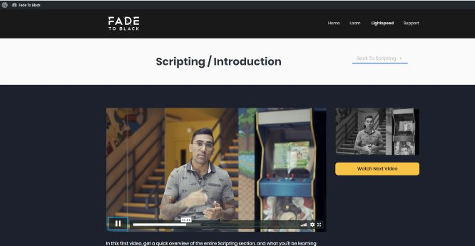 fade to black joey xoto scripting module