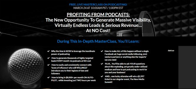 steve olsher profiting from podcasts live masterclass march 24 2020
