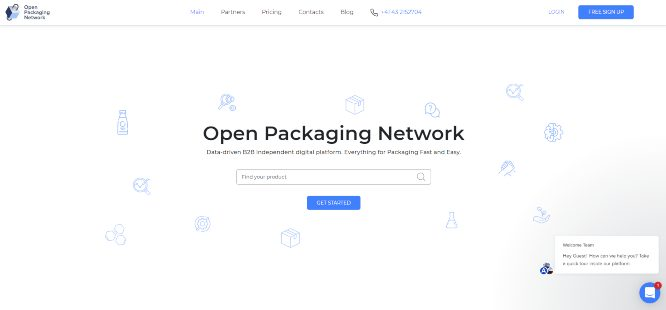 open packacking network marketplace