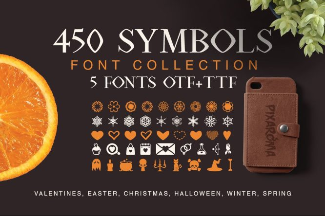 symbols font collection deeezy