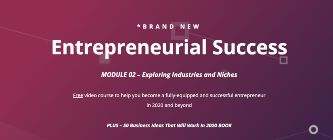 entrepreneurial success video training sidebar