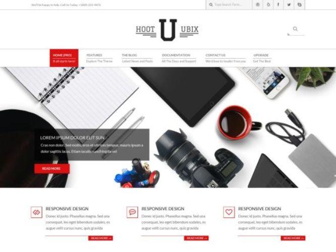 hoot ubix wordpress theme
