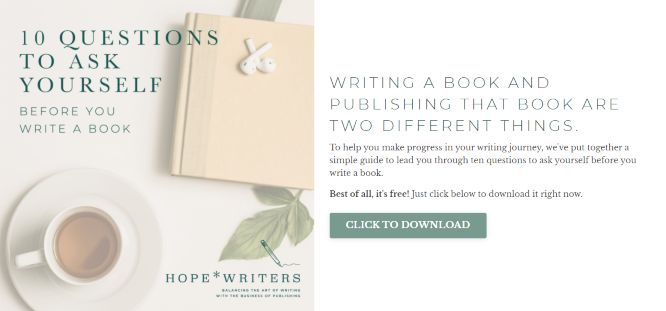 hope writers review 10 questions to ask before you write a book