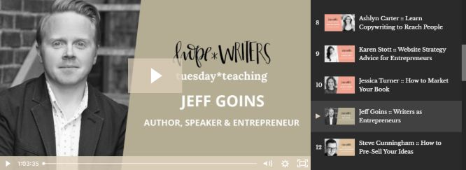hope writers review jeff goins
