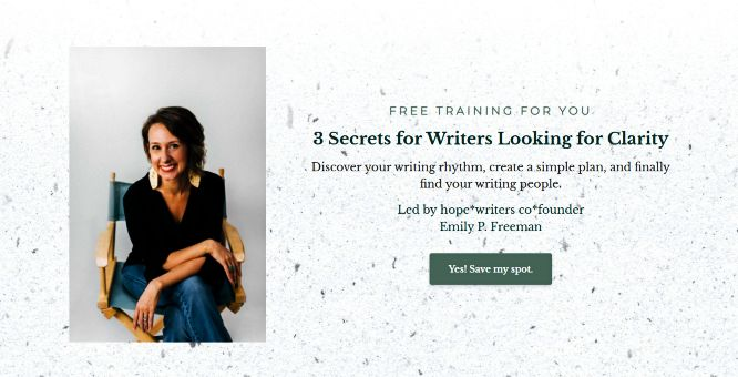 hope writers review webinar with emily