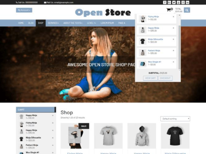 open store wordpress theme