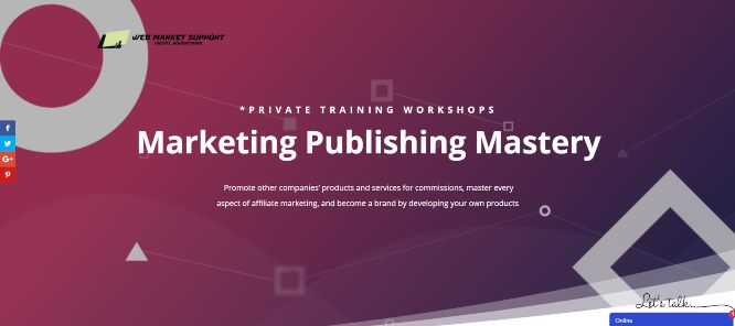 best affiliate marketing training - webmarketsupport marketing publishing mastery