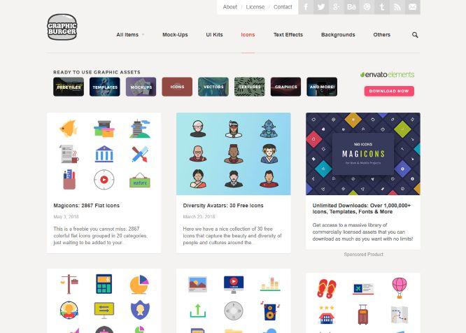 graphicburger free web design icons