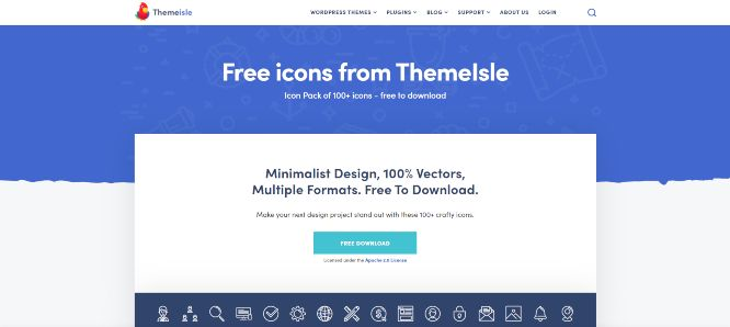themeisle free web design icons