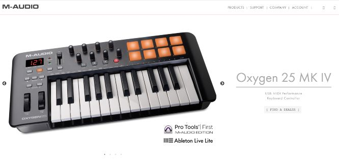 m-audio oxygen 25 midi keyboard