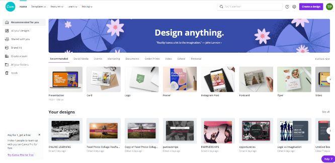 canva - online graphic design tools