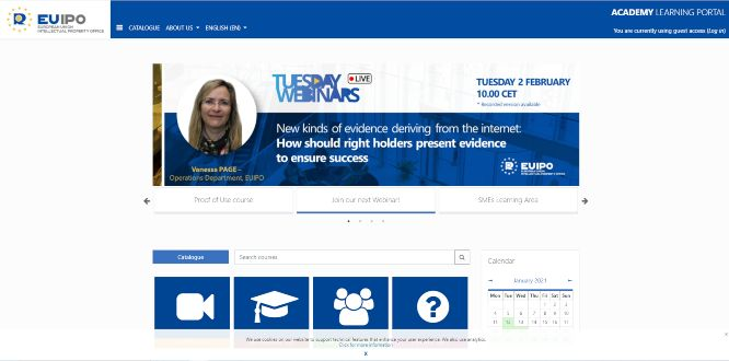 euipo - online learning portals
