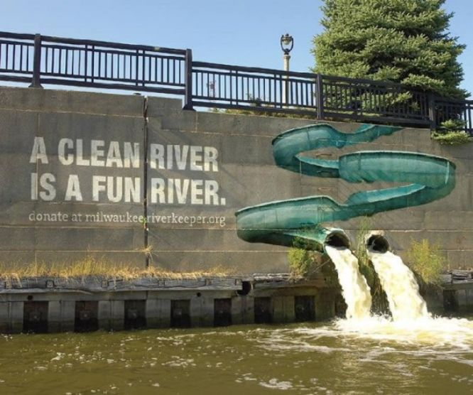 guerrilla marketing - Milwaukee Riverkeeper