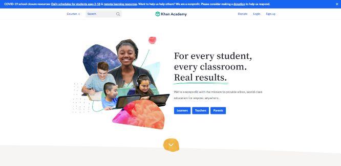 khan academy - online learning portals