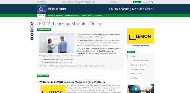 lemon learning modules online - online learning portals