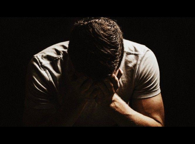 man dissapointed sad miserable