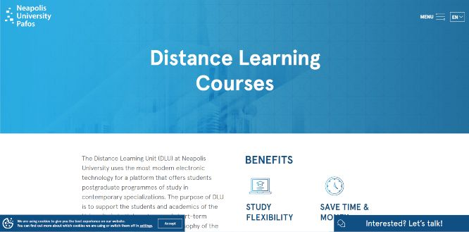 neapolis university pafos - online learning portals