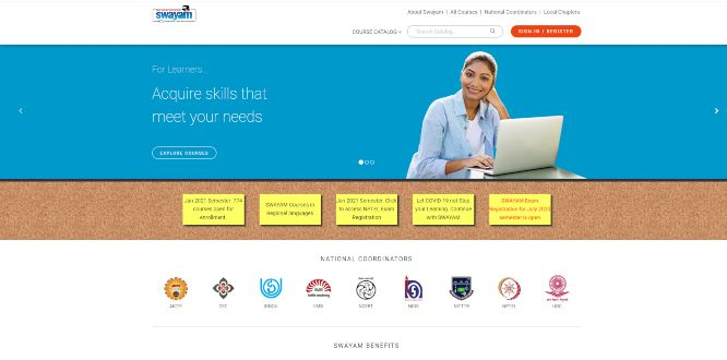 swayam - online learning portals