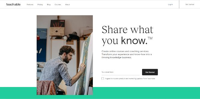 teachable - online learning portals