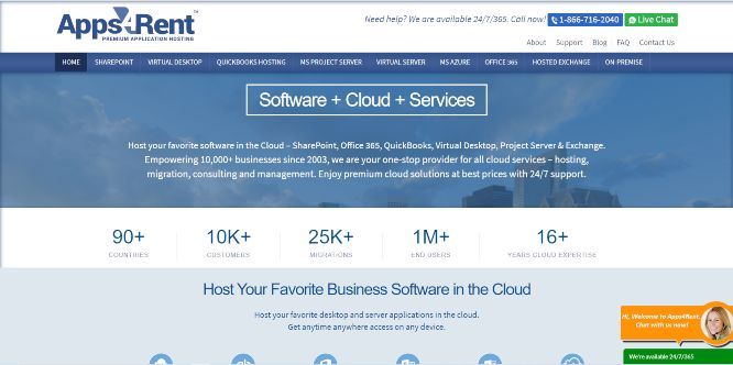 apps4rent - cloud backup storage and hosting services