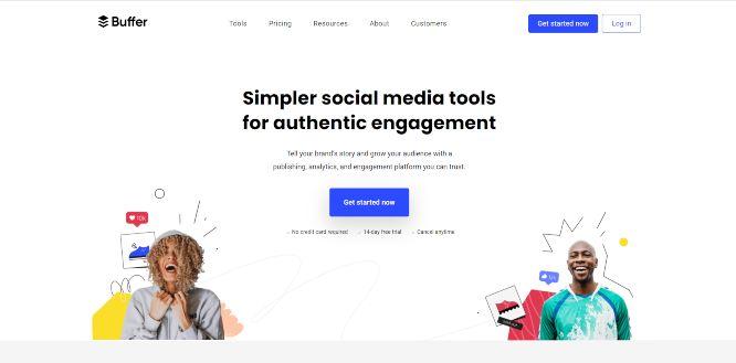 buffer - social media tools