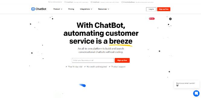 chatbot - website live chat solutions