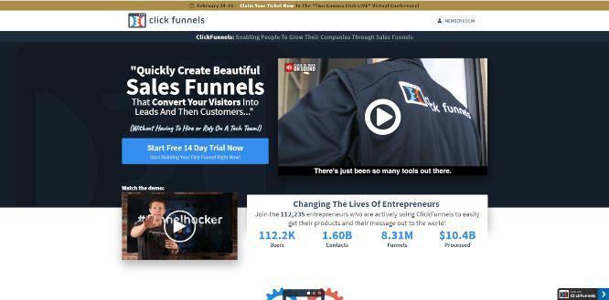clickfunnels - sales funnel builders