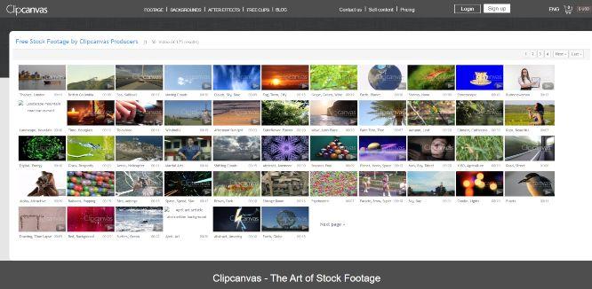 clipcanvas - free stock videos