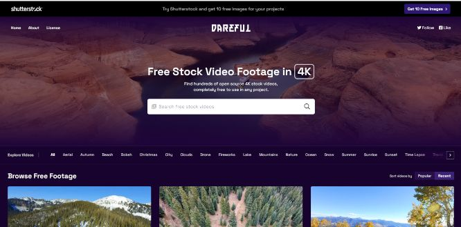 dareful - free stock videos