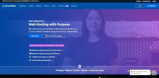 dreamhost - web hosting providers