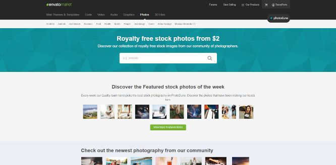 envatomarket photodune - photography marketplaces