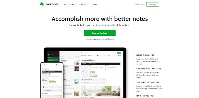 evernote - work management tools