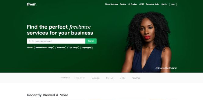 fiverr - hiring and outsourcing platforms
