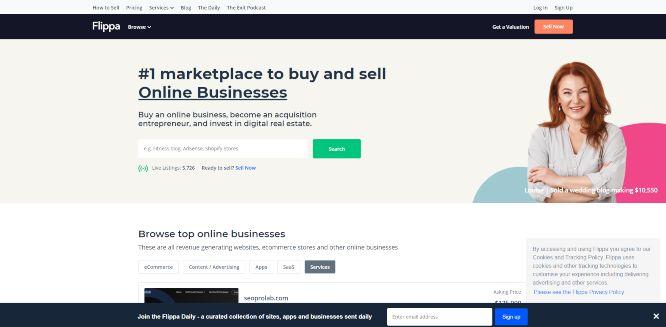 flippa - domain flipping marketplaces